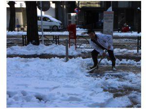 雪かきをしました!