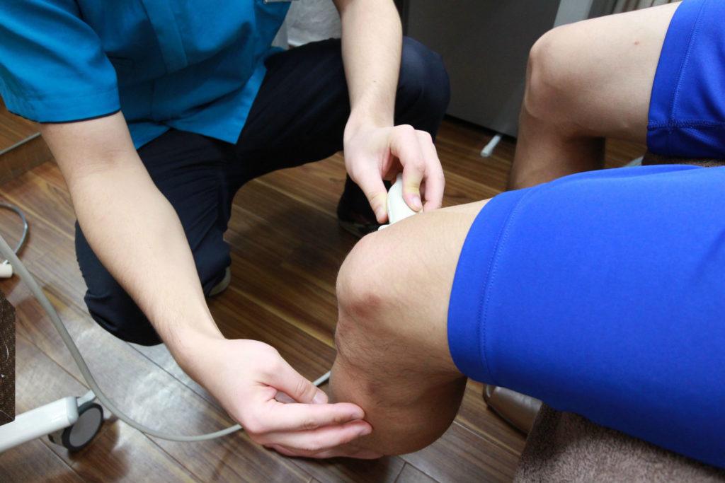 新中野大木接骨院 ケガ治療 スポーツ 超音波検査機 超音波検査 内側側副靭帯損傷 内側半月板損傷