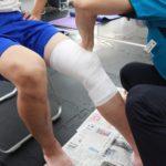 新中野の大木接骨院では内側側副靭帯損傷よ内側半月板損傷の固定をキャストライトで行っていきます!