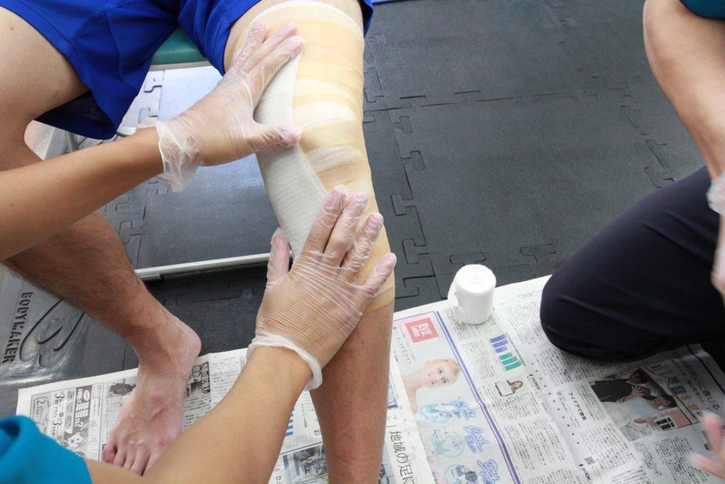 新中野 大木接骨院 ケガ治療 側副靭帯損傷 半月板損傷 固定