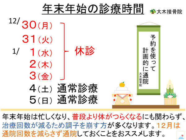 Read more about the article 年末年始の診療について
