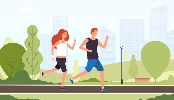 休日のランニングは関節を健康にします。
